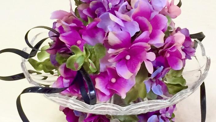 下部の紫陽花は輪になっており取り外し可能です。