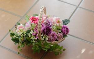 摘んできた春の花